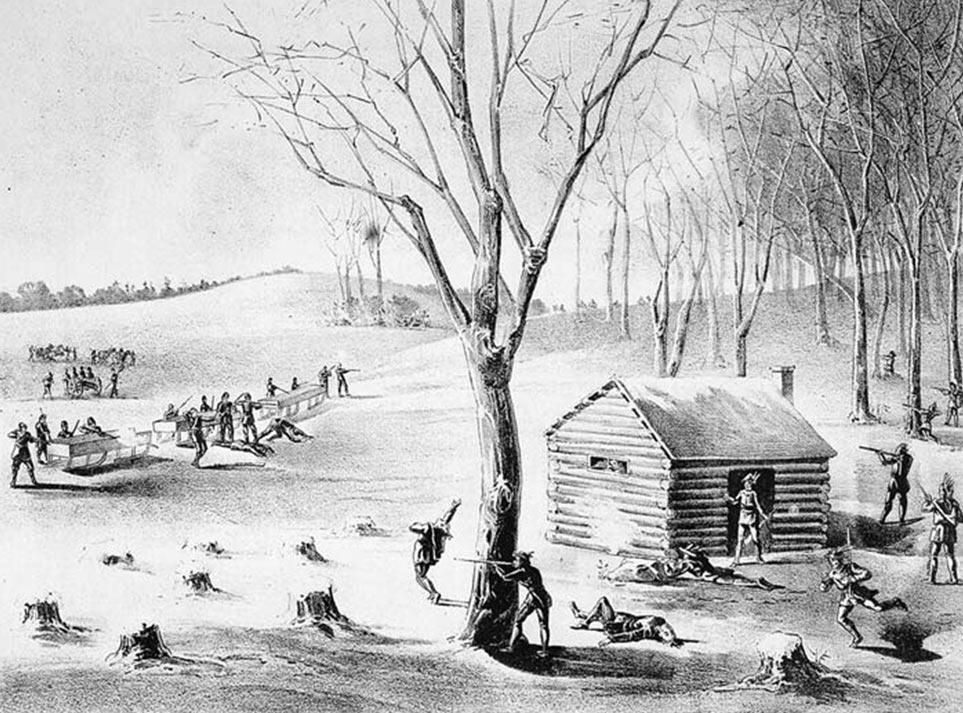 Illustration of the battle at Duck Lake