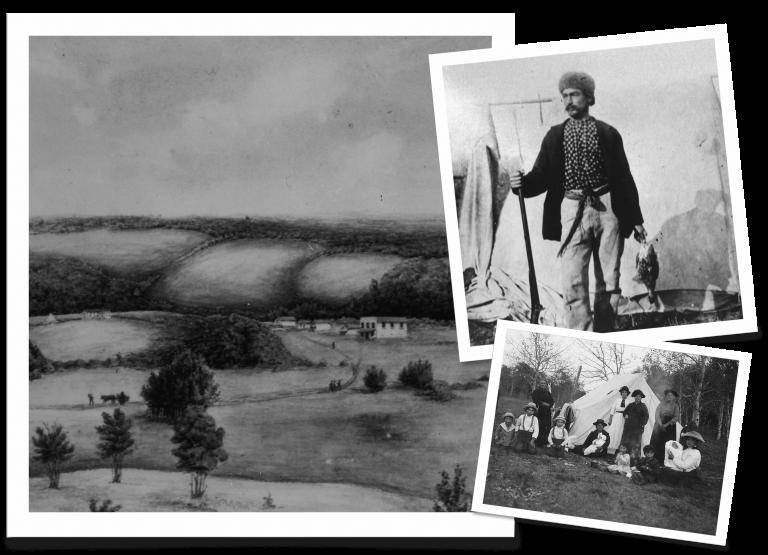 Batoche Saskatchewan Photo Collage. Provincial Archives of Saskatchewan.